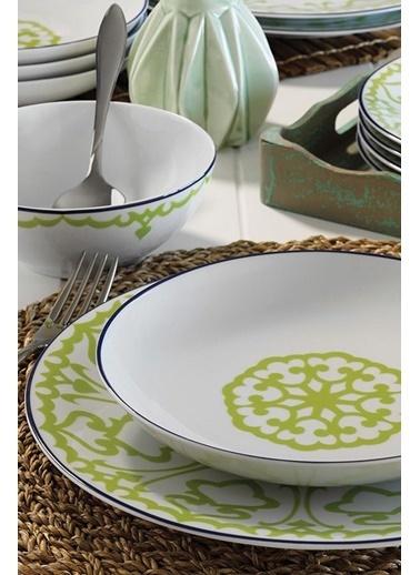 Kütahya Porselen 59663 Desen 24 Parça Yemek Seti Yeşil Yeşil